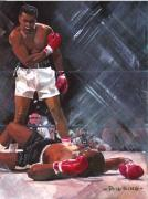 Boxer Painting Prints - They Call Me Ali Print by Phil  King