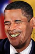 Laughing Painting Posters - They called me Mr. President 1 Poster by Reggie Duffie