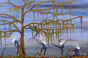 Vines Paintings - They danced as though her life depended on it. by Andrea Youngman