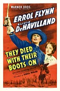 Errol Posters - They Died With Their Boots On, Errol Poster by Everett