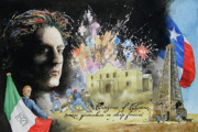 Fireworks Paintings - They Dreamed of Texas by Gale Cochran-Smith