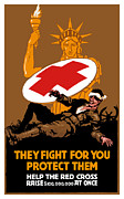 Red Cross Posters - They Fight For You Protect Them Poster by War Is Hell Store