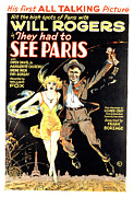Postv Framed Prints - They Had To See Paris, Will Rogers Framed Print by Everett