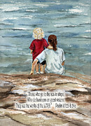 Edge Paintings - They See the Works of the LORD  by Nancy Patterson