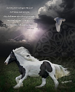 Equine Digital Art Posters - They Shall Run and Not Be Weary Poster by Terry Kirkland Cook