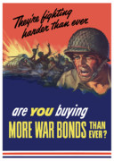 Wwii Propaganda Metal Prints - Theyre Fighting Harder Than Ever Metal Print by War Is Hell Store