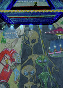 Aliens Drawings - Theyre Here..... by Shako