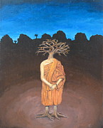 Tree Roots Paintings - Thich Quang Duc by David  Nixon
