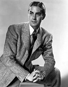 1937 Movies Photos - Thin Ice, Tyrone Power, 1937 by Everett