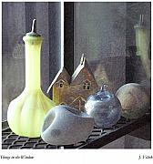 Glass Bottle Mixed Media Posters - Things in the Window Poster by Joseph Vittek