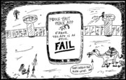 Ironic Drawings Originals - Things Mobile Apps Cant Fix by Yasha Harari