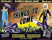 1930s Movies Posters - Things To Come, From Left On 1947 Poster by Everett