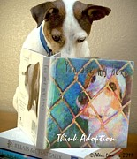 Dogs Digital Art Originals - Think Adoption by Alice Lero