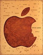 Logo Paintings - Think Different Steve Jobs  by Georgeta  Blanaru