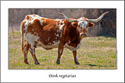 Onyonet Framed Prints - Think Vegetarian Framed Print by  Onyonet  Photo Studios