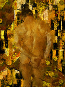 Klimt Digital Art Prints - Thinking About You Print by Kurt Van Wagner