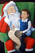 Santa Claus Paintings - Thinking Big by Mike Segura