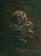Thinker Paintings - Thinking It Over by Arline Wagner