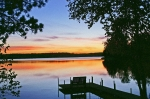 Lake Sunset Photos - Thinking of you by Bill Morgenstern