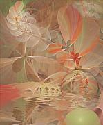 Fractal Pastels Posters - Thinking of You Poster by Gayle Odsather