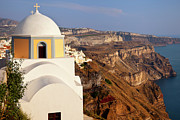 Domes Prints - Thira Church Print by Brian Jannsen