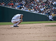 Detroit Tigers Art Photos - Third Base by Cindy Lindow