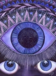 Eye Painting Prints - Third Eye Chakra Print by Catherine G McElroy