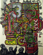 Folk Art Mixed Media - Third Eye by Robert Wolverton Jr