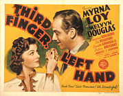 Lobbycard Framed Prints - Third Finger, Left Hand, Myrna Loy Framed Print by Everett