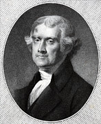 President Jefferson Prints - Third President of the USA - Thomas Jefferson Print by International  Images