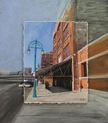 Lamp Post Mixed Media Framed Prints - Third Ward - Market Street Framed Print by Anita Burgermeister