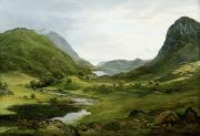 Hill District Painting Posters - Thirlmere Poster by John Glover