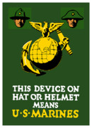 Us Propaganda Art - This Device Means US Marines  by War Is Hell Store