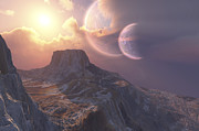 Earth Digital Art - This Earthlike Planet Has A Double Moon by Corey Ford