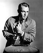 Trenchcoat Prints - This Gun For Hire, Alan Ladd, 1942 Print by Everett