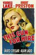 Trenchcoat Framed Prints - This Gun For Hire, Veronica Lake, Alan Framed Print by Everett