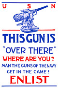 Usn Prints - This Gun Is Over There Print by War Is Hell Store
