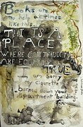 Blake Mixed Media - This is a place where contradictions are equally true by Jamie Chiarello