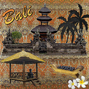 Roof Mixed Media Prints - This Is Bali Print by Ellen Henneke
