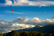 Snow Capped Originals - This is British Columbia No.34 - Paragliding in Canada by Paul W Sharpe Aka Wizard of Wonders