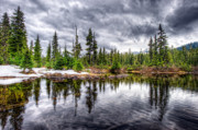 Hemlock Prints - This is British Columbia No.40 - Callaghan Lake Reflects the Winter Print by Paul W Sharpe Aka Wizard of Wonders