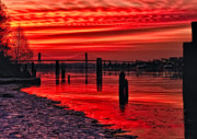 Frost Photo Originals - This is British Columbia No.42 - Frost on the Fraser Sunset by Paul W Sharpe Aka Wizard of Wonders
