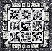 Black Tapestries - Textiles - This IS IT Front by Tracie L Hawkins