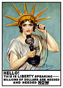 Vintage Telephone Prints - This Is Liberty Speaking Print by War Is Hell Store