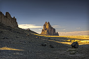 Lava Rock Prints - This is New Mexico No. 2 - Shiprock World Wonder Print by Paul W Sharpe Aka Wizard of Wonders