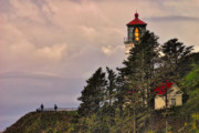 Red Roof Framed Prints - This is Oregon State No.15 - Heceta Head Lighthouse Close-up Framed Print by Paul W Sharpe Aka Wizard of Wonders