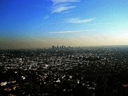 Los Angeles Digital Art Metal Prints - This is the City Los Angeles California Metal Print by Eve Paludan