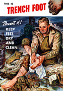 World War Two Mixed Media Posters - This Is Trench Foot Poster by War Is Hell Store