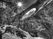 Double O Arch Photos - This is Utah No. 17 - Double O Arch Sunburst by Paul W Sharpe Aka Wizard of Wonders