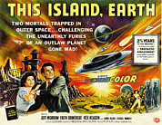 1955 Movies Posters - This Island Earth, Faith Domergue, Rex Poster by Everett